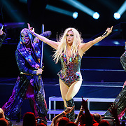 "VIENNA, VA - August 12th, 2013 - Ke$ha performs at the The Filene Center at Wolf Trap in Vienna, VA as part of her Warrior Tour. Her 2012 album of the same name reached #6 on the US Billboard 200 album chart and spawned the #1 single ""Die Young."" (Photo by Kyle Gustafson / For The Washington Post)"