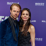 NLD/Amsterdam/20190415 - Filmpremiere première Baantjer het Begin, Thijs Römer en partner Igone de Jong