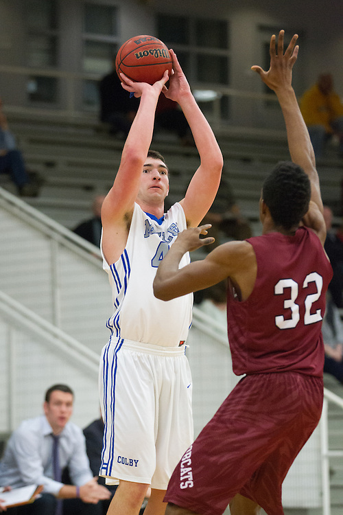 Chris Hudnut, of Colby College, in a NCAA Division III basketball game against Bates College on December 5, 2013 in Waterville, ME. (Dustin Satloff/Colby College Athletics)