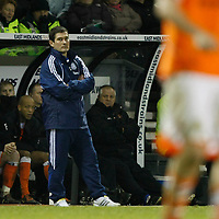 Photo: Steve Bond/Richard Lane Photography. Derby County v Blackpool. Coca-Cola Championship. 26/12/2009. Things look bad for manager Nigel Clough