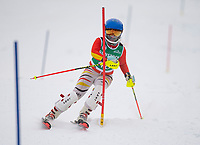 Tony Buttinger Slalom U14 with Gunstock Ski Club.   ©2021 Karen Bobotas Photographer