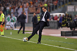 May 13, 2018 - Rome, Italy - Massimiliano Allegri during the Italian Serie A football match between A.S. Roma and FC Juventus at the Olympic Stadium in Rome, on may 13, 2018. (Credit Image: © Silvia Lore/NurPhoto via ZUMA Press)