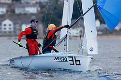 The annual RYA Youth National Championships is the UK's premier youth racing event. This year's regatta is taking place in Largs, Scotland, and will feature around 200 young sailors aged between 14 and 21. <br /> <br /> 54483, Haydn Sewell, William Heathcote, RLymYC, 420 Boy <br /> <br /> Images: Marc Turner / RYA<br /> <br /> For further information contact:<br /> <br /> Richard Aspland, <br /> RYA Racing Communications Officer (on site)<br /> E: richard.aspland@rya.org.uk<br /> m: 07469 854599