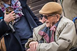 THEMENBILD - Das Stammlager Auschwitz I gehörte neben dem Vernichtungslager KZ Auschwitz II–Birkenau und dem KZ Auschwitz III–Monowitz zum Lagerkomplex Auschwitz und war eines der größten deutschen Konzentrationslager. Es befand sich zwischen Mai 1940 und Januar 1945 nach der Besetzung Polens im annektierten polnischen Gebiet des nun deutsch benannten Landkreises Bielitz am südwestlichen Rand der ebenfalls umbenannten Kleinstadt Auschwitz (polnisch Oświęcim). Teile des Lagers sind heute staatliches polnisches Museum bzw. Gedenkstätte. Im Bild der überlebende Marko Feingold, aufgenommen am 11.04.2018, Oswiecim, Polen // Auschwitz concentration camp was a network of concentration and extermination camps built and operated by Nazi Germany in occupied Poland during World War II. It consisted of Auschwitz I (the original concentration camp), Auschwitz II–Birkenau (a combination concentration/extermination camp), Auschwitz III–Monowitz (a labor camp to staff an IG Farben factory), and 45 satellite camps. Concentration camp Auschwitz I, Oswiecim, Poland on 2018/04/11. EXPA Pictures © 2018, PhotoCredit: EXPA/ Florian Schroetter