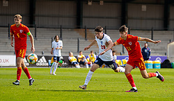 NEWPORT, WALES - Friday, September 3, 2021: England's Daniel Gore (L) and Wales' Ben Hammond during an International Friendly Challenge match between Wales Under-18's and England Under-18's at Spytty Park. (Pic by David Rawcliffe/Propaganda)