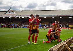31JUL21 Partick Thistle's Brian Graham celebrates after scoring their second goal. Partick Thistle 3 v 2 Queen of the South. First Scottish Championship game of the season.