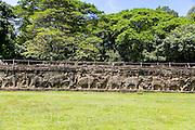 Elephant Terrace, Ankor Thom, Angkor, Cambodia,