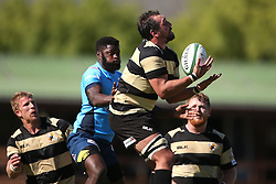 Zandre Jordaan of Boland takes the kick off ball during the Currie Cup premier division match between the Boland Cavaliers and The Blue Bulls held at Boland Stadium, Wellington, South Africa on the 23rd September 2016<br /> <br /> Photo by:   Shaun Roy/ Real Time Images