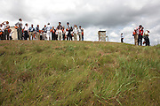 Visitors stand near a weathered launchpad at the European Space Agency's Kourou space station in French Guiana.  .
