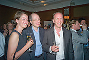 CHARLOTTE AND ALAIN DE BOTTON AND SIMON SEBAG-MONTEFIORE, The Spectator 180th Anniversary party, at the Churchill Hotel, London, 7 May 2008.  *** Local Caption *** -DO NOT ARCHIVE-© Copyright Photograph by Dafydd Jones. 248 Clapham Rd. London SW9 0PZ. Tel 0207 820 0771. www.dafjones.com.