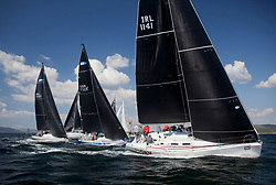 Sailing - SCOTLAND  - 25th-28th May 2018<br /> <br /> The Scottish Series 2018, organised by the  Clyde Cruising Club, <br /> <br /> First days racing on Loch Fyne.<br /> <br /> RC35 fleet leeward mark, with TBA4, Storm, David Kelly, HYC/RSC,J109<br /> <br /> Credit : Marc Turner<br /> <br /> <br /> Event is supported by Helly Hansen, Luddon, Silvers Marine, Tunnocks, Hempel and Argyll & Bute Council along with Bowmore, The Botanist and The Botanist