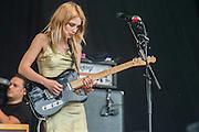 Wolf Alice play the  Pyramnid stage - The 2016 Glastonbury Festival, Worthy Farm, Glastonbury.