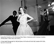 Samantha Connelly at the Christmas Rose Dance. Commonwealth Institute. London. 20 December 1984. Film. 841164f21.<br />