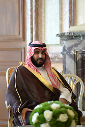 File photo - French National Assembly President Claude Bartolone receives Saudi Deputy Crown Prince Mohammed Bin Salman Bin Abdelaziz Al Saud (also known as MBS), at the Hotel de Lassay residence in Paris, France on June 28, 2016. Saudi Arabia's king has appointed his son Mohammed bin Salman as crown prince - replacing his nephew, Mohammed bin Nayef, as first in line to the throne. Prince Mohammed bin Nayef, 57, has been removed from his role as head of domestic security, state media say. Photo by Ammar Abd Rabbo/ABACAPRESS.COM