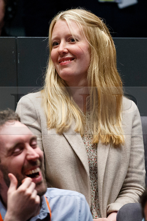 © Licensed to London News Pictures. 07/05/2016. London, UK. Zac Goldsmith's wife Alice Miranda Rothschild watching London Mayoral candidates reacting to announcement of the election results at City Hall in London on Saturday, 7 May 2016. Labour MP Sadiq Khan has declared his victory and accused his Conservative counterpart, Zac Goldsmith MP of using underhand tactics during the campaign. Photo credit: Tolga Akmen/LNP