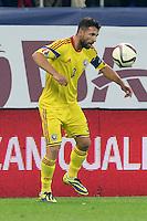 ROMANIA, Bucharest : Romania's Razvan Rat during the Euro 2016 Group F qualifying football match Romania vs Northern Ireland in Bucharest, Romania on November 14, 2014.
