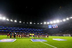 General View as Bayern Munich and Tottenham Hotspur line up - Rogan/JMP - 01/10/2019 - FOOTBALL - Tottenham Hotspur Stadium - London, England - Tottenham Hotspur v Bayern Munich - UEFA Champions League Group B.