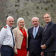 14.11.2016          <br /> Major winter safety and wellbeing campaign launched by Limericks Public Services.<br /> <br /> Pictured at the launch were, Chief Supt. David Sheahan, Colette Cowan, CEO UHL, Bernard Gloster, Chief Officer HSE Midwest and Conn Murray, CEO Limerick City and County Council. <br /> <br /> Limerick City and County Council, the HSE and An Garda Siochana working together. Picture: Alan Place
