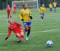 Fotball NM J 16-19 år, Trondheims-Ørn - Team Strømmen 0-2, Ida Erlandsen setter inn 0-2,<br /> Foto: Carl-Erik Eriksson, Digitalsport,