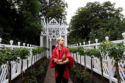 A rehearsal of Pablo Bronstein's ballet The Rose Walk is performed by classically trained dancer Emilia Gasiorek at the Jupiter Artland in West Lothian, which was commissioned for this year's Edinburgh Art Festival.