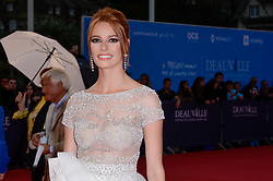 Miss France 2018 Maeva Coucke attending the premiere of The Sisters Brothers during the 44th Deauville American Film Festival in Deauville, France on September 4, 2018. Photo by Julien Reynaud/APS-Medias/ABACAPRESS.COM
