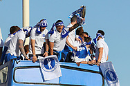 Brighton & Hove Albion winger Anthony Knockaert with the trophy during the Brighton & Hove Albion Football Club Promotion Parade at Brighton Seafront, Brighton, East Sussex. United Kingdom on 14 May 2017. Photo by Ellie Hoad.