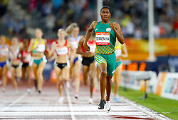 South Africa's Caster Semenya on her way to winning gold in the Women's 1500m Final at the Carrara Stadium during day six of the 2018 Commonwealth Games in the Gold Coast, Australia.
