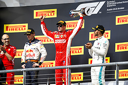 October 22, 2018 - Austin, United States - 7 Kimi Raikkonen (FIN, Scuderia Ferrari), #44 Lewis Hamilton (GBR, Mercedes AMG Petronas F1 Team), #33 Max Verstappen (NDL, Red Bull Racing),  Motorsports: FIA Formula One World Championship; 2018; Grand Prix; United States, FORMULA 1 PIRELLI 2018 UNITED S GRAND PRIX , Circuit of The Americas  (Credit Image: © Hoch Zwei via ZUMA Wire)