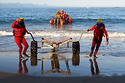South Africa - Plettenberg Bay - 20 May 2020 - Despite the lockdown, NSRI Plettenberg Bay (Station 14) has remained operational. For the first half of lockdown all members stayed at home (but on call), thankfully there were no call-outs. Now they have split the crew into half to have an on-crew and an off-crew to be able to attend training to stay current, while keeping each other safe. The National Sea Rescue Institute (NSRI) is a voluntary non-profit organization in South Africa tasked with saving lives through drowning prevention. Sea Rescue is manned by over 1 350 volunteers at rescue bases around the coast and on inland dams. South Africa is currently under lockdown in an attempt to flatten the curve to halt the spread of the COVID-19 coronavirus pandemic. Picture: David Ritchie/African News Agency(ANA)