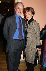 MR & MRS PETER LILLEY he is the former MP at a party to celebrate the publication of Andrew Robert's new book 'Waterloo: Napoleon's Last Gamble' and the launch of the paperback version of Leonie Fried's book 'Catherine de Medici' held at the English-Speaking Union, Dartmouth House, 37 Charles Street, London W1 on 8th February 2005.<br />