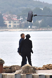 ***VIDEO AVAILABLE ON REQUEST*** Samuel L. Jackson and Ryan Reynolds are seen on set of their upcoming movie The Hitman's Wife's Bodyguard. The film, which is the sequel to The Hitman's Bodyguard, is currently filming in Croatia.<br /> <br /> 8 April 2019.<br /> <br /> Please byline: Vantagenews.com