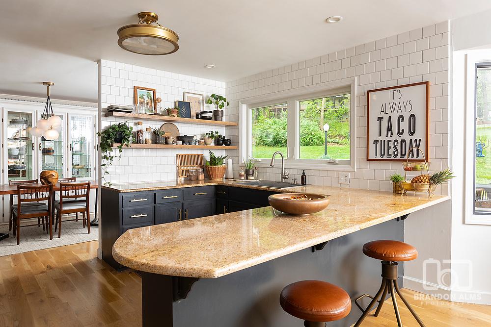 Modern kitchen interior photography by Brandon Alms