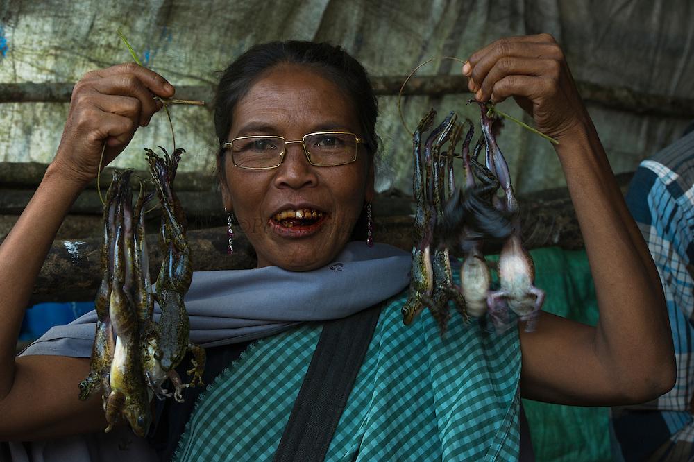 Frogs for food<br /> Sohra Market, Cherrapunji<br /> Meghalaya,  ne India