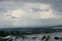 View of Dublin in the snow, Ireland