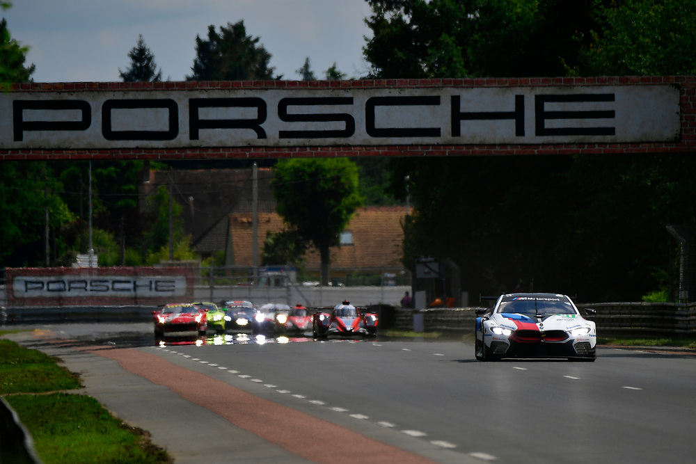 #81 BMW Team MTEK BMW M8 GTE: Martin Tomczyk, Nicky Catsburg, Philipp Eng<br /> Wednesday 13 June 2018<br /> 24 Hours of Le Mans<br /> 2018 24 Hours of Le Mans<br /> Circuit de la Sarthe  FR<br /> World Copyright: Scott R LePage