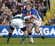 Leicester, England UK., 9th October 2004,  Zurich Premiership Rugby, Leicester Tigers vs Bath Rugby, Welford Road,<br /> [Mandatory Credit: Peter Spurrier/Intersport Images],<br /> <br /> Baths, Mike Tindall, running  through mid field.