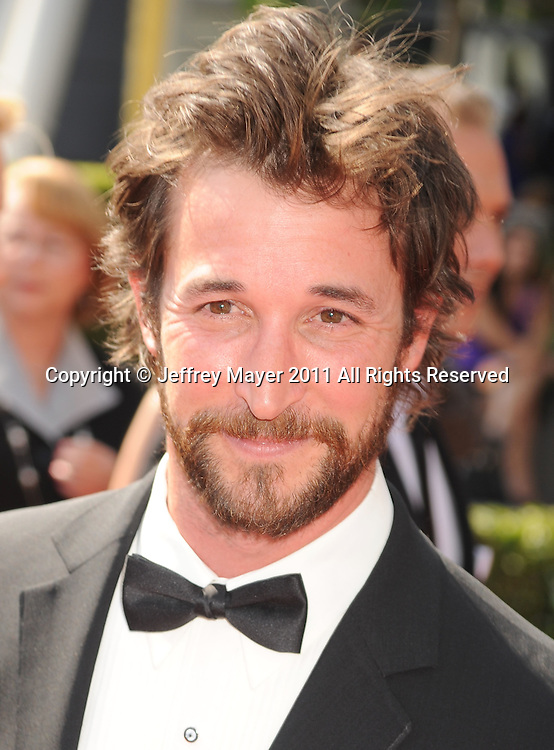 LOS ANGELES, CA - SEPTEMBER 10: Noah Wyle  attends the 2011 Primetime Creative Arts Emmy Awards at Nokia Theatre L.A. Live on September 10, 2011 in Los Angeles, California.