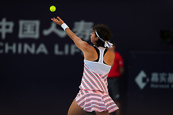 October 2, 2018 - Carla Suarez Navarro of Spain in action during her second-round match at the 2018 China Open WTA Premier Mandatory tennis tournament (Credit Image: © AFP7 via ZUMA Wire)