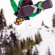 Italian National Snowboard Team member Manuel Pietropoli competes in the half pipe during qualifying at the 2009 LG Snowboard FIS World Cup at Cypress Mountain, British Columbia, on February 16th, 2009. Pietropoli finished 31st in the field of 70.