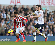 Tottenham's Ryan Mason tussles with Stoke's Bojan Krkic<br /> <br /> - Barclays Premier League - Tottenham Hotspur vs Stoke City- White Hart Lane - London - England - 9th November 2014  - Picture David Klein/Sportimage