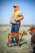 SHOT 5/9/20 10:13:09 AM - Various pointing breeds compete in the Vizsla Club of Colorado Licensed Hunt Test Premium at the Rocky Mountain Sporting Dog Club Grounds in Keenesburg, Co. (Photo by Marc Piscotty / © 2020)