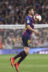 March 2, 2019 - Madrid, Madrid, Spain - Sergi Roberto (midfielder; Barcelona) in action during La Liga match between Real Madrid and FC Barcelona at Santiago Bernabeu Stadium on March 3, 2019 in Madrid, Spain (Credit Image: © Jack Abuin/ZUMA Wire)