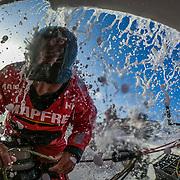 Leg 3, Cape Town to Melbourne, day 03, Willy Altadill on board MAPFRE. Photo by Jen Edney/Volvo Ocean Race. 14 December, 2017.
