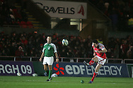 Heineken cup,round four, Scarlets v Ulster at Parc y Scarlets in Llanelli on Friday 12th December 2008. Stephen Jones of the Scarlets takes a penalty