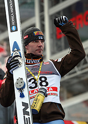 Janne Ahonen  of Finland at e.on Ruhrgas FIS World Cup Ski Jumping on K215 ski flying hill, on March 14, 2008 in Planica, Slovenia . (Photo by Vid Ponikvar / Sportal Images)./ Sportida)
