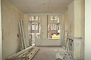 interior of apartment during remodeling, Staatsliedenbuurt Amsterdam Holland
