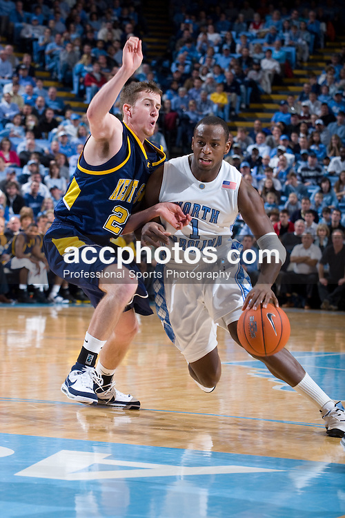 02 January 2008: North Carolina Tar Heels guard Marcus Ginyard (1) during a 90-61 win over the Kent State Golden Flashes at the Dean Smith Center in Chapel Hill, NC.