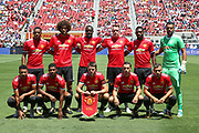 Manchester United line up during the AON Tour 2017 match between Real Madrid and Manchester United at the Levi's Stadium, Santa Clara, USA on 23 July 2017.