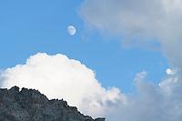 Moon over Wind River Range