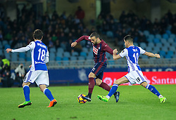 February 28, 2017 - San Sebastian, Spain - Match day of La Liga Santander 2016 - 2017 season between Real Sociedad and S.D Eibar, played Anoeta Stadium on Thuesday, March 28th, 2017. San Sebastian, Spain. 21 Pedro Leon. (Credit Image: © Ion Alcoba/VW Pics via ZUMA Wire/ZUMAPRESS.com)